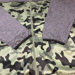 NEW Mens Adidas ST1 Camo Full Zip Jacket 2XL XXL A87999 Fleece Knit